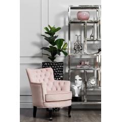 Кресло велюровое розовое pjc741-pj621