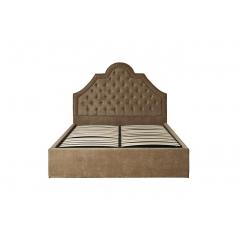 Кровать двуспальная бежевая бархатная (с подъемным механизмом) province-f 767-4