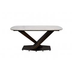 Стол обеденный светло-бежевый (натуральный камень) 45ex-dt136
