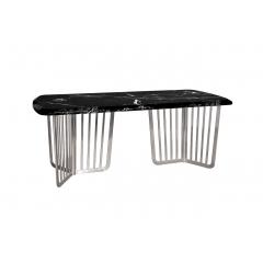 Стол обеденный черный (искусственный мрамор) 33fs-dt2000-bs