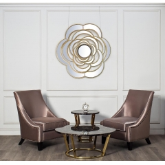 Стол журнальный коричневый (искусственный мрамор) 33fs-сt20с05-pg