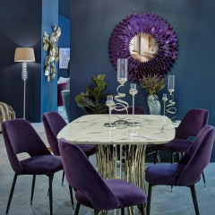 Стул велюровый фиолетовый 46as-ch3073-viol