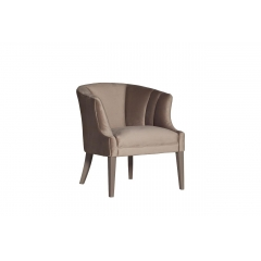 Кресло серое низкое велюровое zw-857 gre