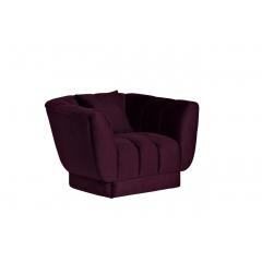 Кресло велюровое темно-фиолетовое с подушкой zw-81101 dvi