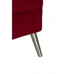 Кресло велюровое бордовое (правое) 48my-2553-r bur slv