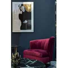 Кресло велюровое бордовое (левое) 48my-2553-l bur slv
