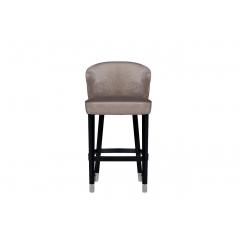 Стул барный велюровый жемчужно-серый 48my-4115-b peg