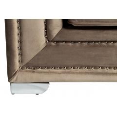 Диван трехместный велюровый серый (с подушками) 48my-1245-3 gre