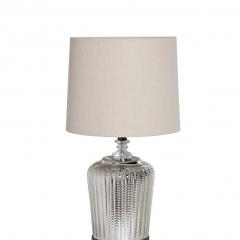 Лампа настольная серебристая (кремовый абажур) 22-88237