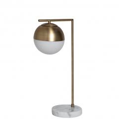 Лампа настольная металлическая золотая (белый абажур) 22-88228