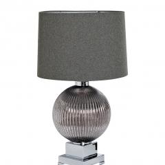 Лампа настольная стеклянная дымчатая (серый абажур) 22-88235