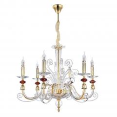 Подвесная люстра Crystal Lux Catarina SP6 Gold/Transparent-Cognac