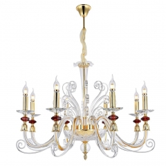 Подвесная люстра Crystal Lux Catarina SP8 Gold/Transparent-Cognac