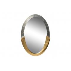 Зеркало овальное серебро-золото