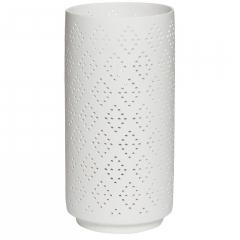 Светильник керамический настольный белый