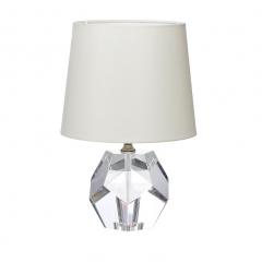 Лампа настольная хрустальная с кремовым плафоном x31511cr