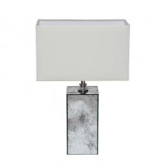 Лампа настольная с зеркальными вставками (бежевый плафон)