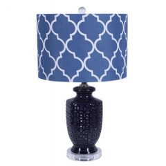 Nanvy Blue Ceramic Table Lamp