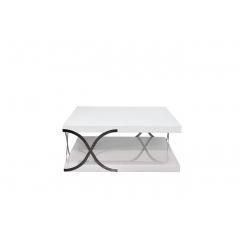 Столик журнальный квадратный белый