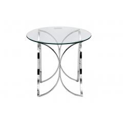 Столик стеклянный круглый