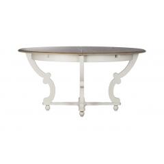 Стол обеденный раскладной (белый)