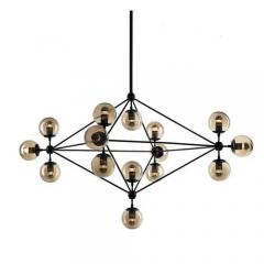 люстра Modo Chandelier 15 Globes Black
