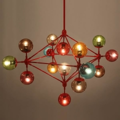люстра Modo Chandelier 10 Globes Color