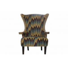 """Кресло """"Шале"""" бежевое с цветной обивкой"""