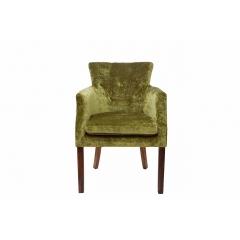 Кресло велюровое темно-зеленое