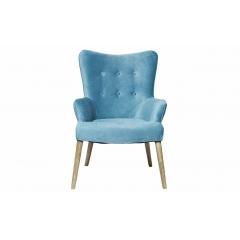 Кресло бирюзовое велюровое