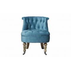 Кресло низкое бирюзовое велюровое