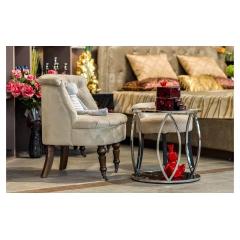 Кресло низкое бежевое велюровое hd2202868-bt