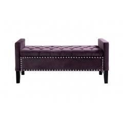 Банкетка с ящиком фиолетовая alice 5825