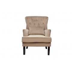 Кресло велюровое бежевое (с подушкой) 24yj-7004-06413/1