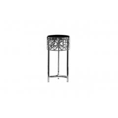 Журнальный стол круглый серебряный 13rxfs5080l-silver