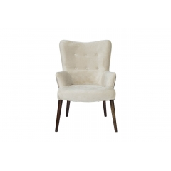 Кресло бежевое велюровое hd2203282kd-btd