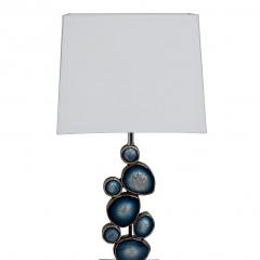 Настольная лампа синяя (белый абажур) gd-4400