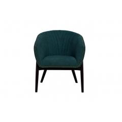 Кресло низкое велюровое тёмно-бирюзовое pjc379-pj618