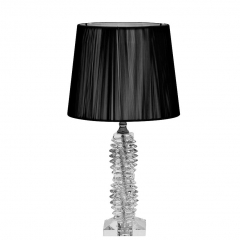 Лампа настольная стеклянная (черный абажур) x381207