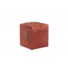Банкетка с крышкой велюровая темно-розовая 48my-5208-t dro