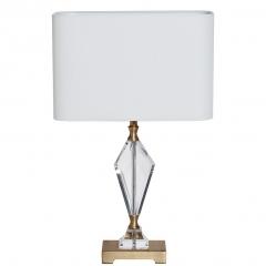 Лампа настольная стеклянная (белый абажур) 22-88232