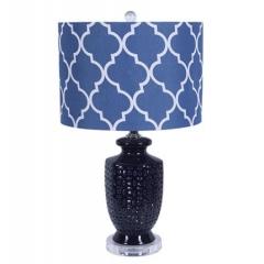 Nanvy Blue Ceramic Table Lamp