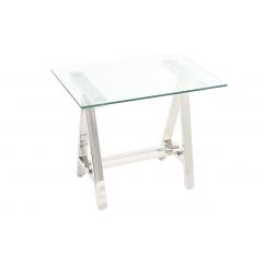 Стеклянный стол прямоугольный