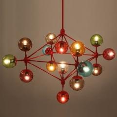 люстра Modo Chandelier 15 Globes Color
