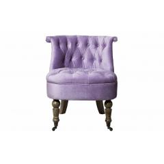Кресло низкое сиреневое велюровое