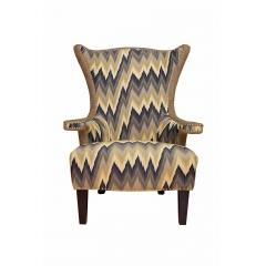 """Кресло """"Шале"""" серое с цветной обивкой"""