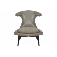 Кресло оригинальное серо-бежевое