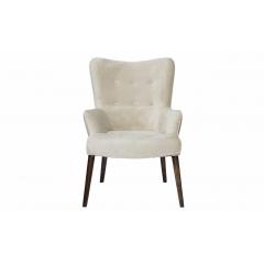 Кресло бежевое велюровое