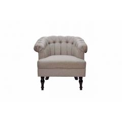 Кресло с низкой спинкой серое