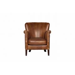 Кресло кожаное светло-коричневое